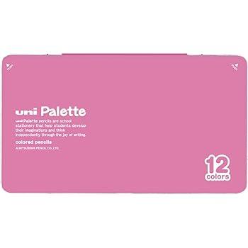 三菱鉛筆 色鉛筆 880 ユニパレット 12色 ピンク K88012CPLT.13