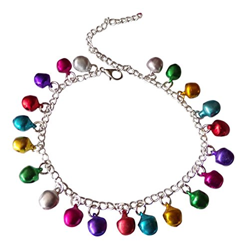 dunns-jewels Silver-Plated Multi Colored Jingle-Jangle Anklet