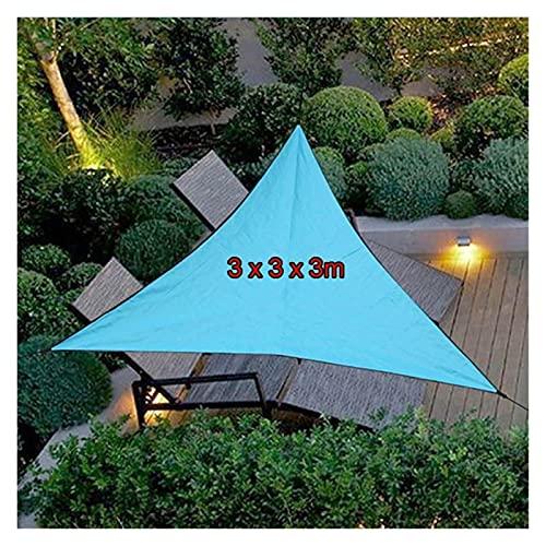 XDRE Parasol Coche 6x6x6m Anti-UV Twning Sun Shelter Triangle Canopy Refugios al Aire Libre Sombrilla Impermeable Tarp Playa Sombrilla Jardín Coche Camping Cortina de Malla para Coche