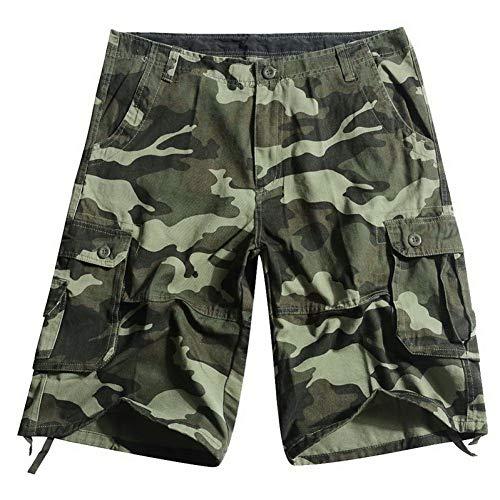 TOUSHI Camouflage Cargo Shorts Summer Hommes Baggy Shorts Hommes Multi Pocket Shorts