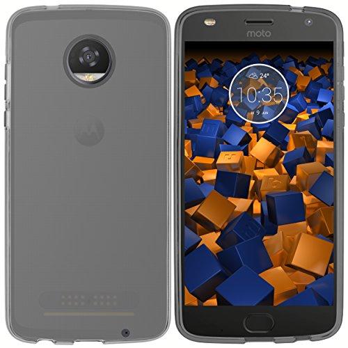 mumbi Hülle kompatibel mit Lenovo Moto Z2 Play Handy Case Handyhülle, transparent schwarz