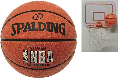 Pallone da basket Spalding Silver Outdoor dimensioni 7 + 2nd scelta Mini cestino