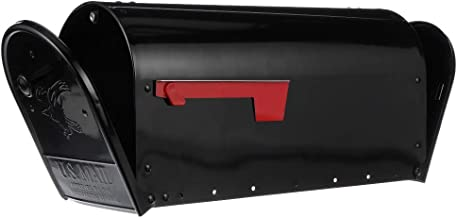 Gibraltar Mailboxes OM160BEC Outback Double Door, Large Capacity Mailbox, Black