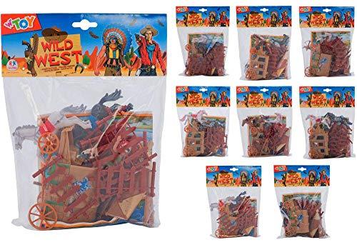 Globo Toys globo36784W 'Toy Cowboy und indischen Soldat, der Karte