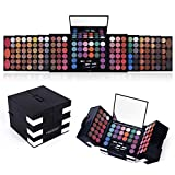 All In One Makeup Kit 142 Ultimate Colors Matte Shimmer Eyeshadow Palette Colorful Gifts For Women 3 blush 3 Sponge Brushs 3 Eyebrow Powder Professional Cosmetics Fashion Women Makeup Case Full Make Up Eye Shadow Palette Primer Set Present