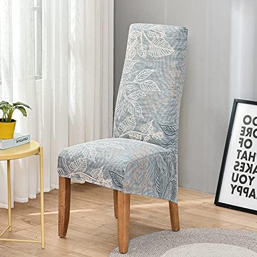 DFGDFG XL Größe Floral High Back Stuhlabdeckungen Stuhl Slipcover Für Esszimmer Stuhl Protector Elastische Feste Stretchstuhlabdeckung (Color : Color 23, Specification : 1 Piece)