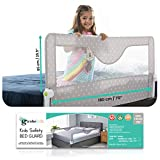 Girobe Kids Bed Rail for Toddler Bed Extra Long with Foldable Button, Babies Sleep Safety. Detachable on Tween, Full, Queen, and King Size Bed and Mattress (Grey, 70 in)