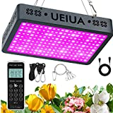 1000W LED Grow Light, UEIUA 3.5x4ft Full Spectrum Remote Controller Series Plant Light with Timer, Veg & Bloom, Daisy Chain, Group Control, Hygrometer for Indoor Plants (10W LEDs, 100PCS)