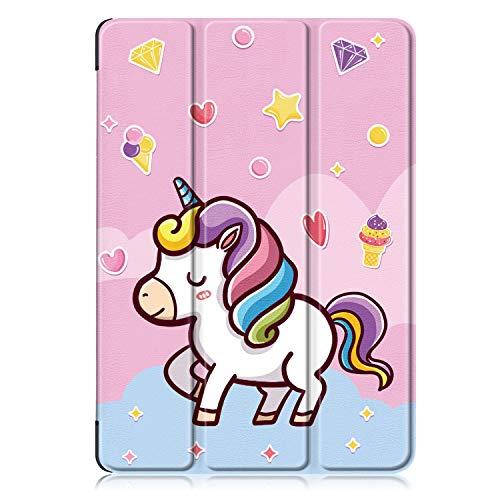 Xuanbeier Huawei MediaPad T3 10 (9.6 Pulgadas) PU Funda de Piel - Ultra Delgado Ligero de pie Cubierta para T3 10 9,6 Pulgadas,Unicornio