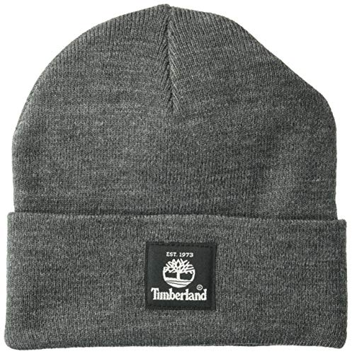 Timberland Short Watch Cap, Charcoal Heather Gray, One Size