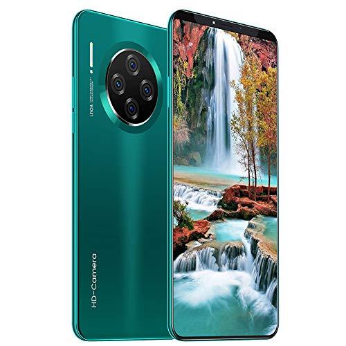 ELLENS Handy SIM Free Unlocked ohne Vertrag, 3G Günstiges Handy, 1 GB RAM + 8 GB ROM Smartphone, 6,1-Zoll-Vollbild-Bildschirm, Dreifachkamera (Grün/Lila/Schwarz)