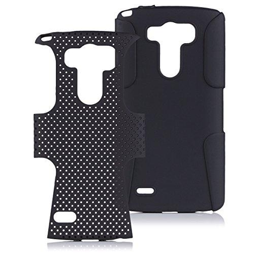 LG G3   iCues Parte 2 Caso Air Negro   Caso duro al Air libre grueso a prueba de golpes militares Lifeproof hombres, niños piel protectora de protección [protector de pantalla, incluyendo] Cubierta Cubierta Funda Carcasa Bolsa Cover Case
