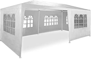 Maxxgarden 3x6m Partyzelt Gartenzelt Garten Pavillon Bierzelt Festzelt mit 6 Seitenteilen (Weiß)