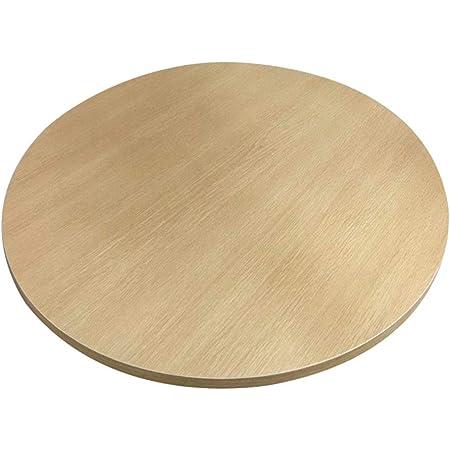 Bûche Couleur Table À Manger Table Tournante en Bois Massif Ménage Grande Table Ronde Rotative Simple Table À Manger Table De Jardin Plateau Tournant Base Disque 50/60/70/80 CM