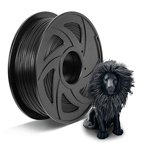 augtarlion 3D Printer Filament Tangle-Free PLA Filament 1.75 mm Dimensional Tolerance 0.03 mm, 2.2 lbs Spool Compatible with Most FDM 3D Printer (Black)