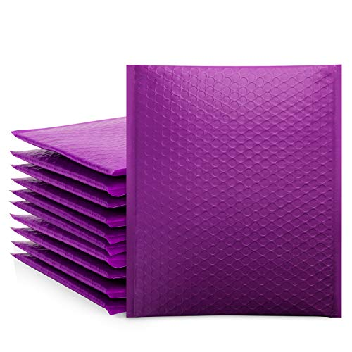 Purple 8.5x12 Poly Bubble Mailers, Self-Seal Shipping Bags, Packaging Bags, Bubble Padded Mailing Shipping Envelopes, Package Mailing Bags, Shipping Supplies, Packaging for Small Business, 25-Pack