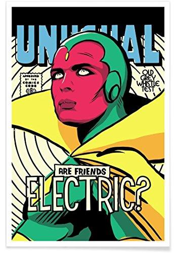 Juniqe® Affiche 30x45cm Pop Art - Design Post Punk Electric (Format : Portrait) - Poster, Tirages d'art & Tableaux par des Artistes indépendants créé par Butcher Billy