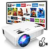 DR. J Professional HI-04 Mini Projector Outdoor Movie Projector with 100Inch Projector Screen,...