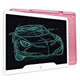 Richgv 15 Pulgadas Tableta Gráfica, Tablets de Escritura LCD, Portátil Tableta de Dibujo, Adecuada para el hogar, Escuela, Oficina, Cuaderno de Notas, 1 año de garantía (Rosa)…