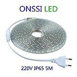 miglior Strisce LED SMD5050 60 LED/M 220v (5M Luce Fredda)