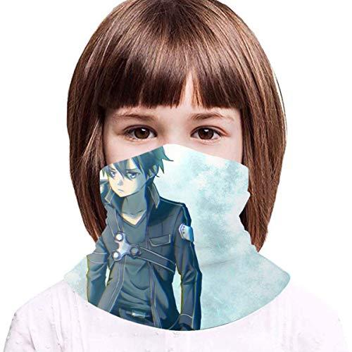 TUCBOA Face Guards,Sword Art Online Niños Cuello Pasamontañas, Protectores Faciales Deportivos Suaves para Escalar Acampar,20x35cm