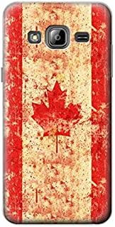 R1603 Canada Flag Old Vintage Case Cover For Samsung Galaxy J3 (2016)