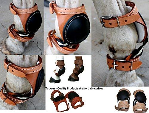 Pferd Equine Leder Sport-Medizin Skid Boots amischen Made in USA Tack 4123