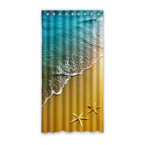 Doubee Custom Starfish Modern Und Duschvorhang Polyester 127cm x 244cm (1 Stück)