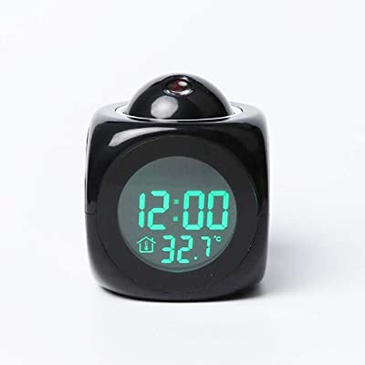 Bluelliant Reloj despertador con proyector LED, reloj despertador ...