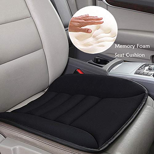 Big Ant Car Seat Cushion Pad Memory Foam Seat Cushion,Pain Relief Memory Foam Cushion Comfort Seat Protector Perfect for Car Office Home Use,Black(1PC)