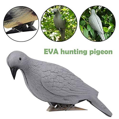 XBD-YOUER, Falso Uccello Creativo Yard Pest Albero Grigio Eva Esterna Uccello da richiamo Colomba Decoy Target Trappola Realistico di Caccia