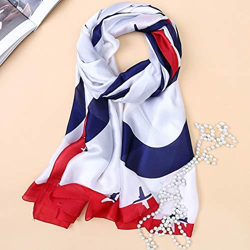 MYTJG Lady sjaal herfst en winter dames sjaal mode hoge kwaliteit zachte zijden sjaal vrouwelijke sjaal blouse gewikkelde zijden sjaal