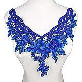 Blusa de tela de organza con diseño de encaje y adornos de