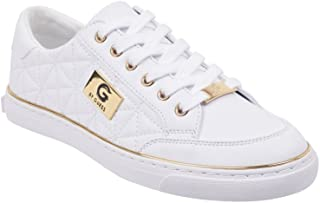 G by GUESS Women's Omerica Quilted Faux-Leather Logo Plaque Sneakers