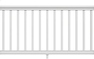 Veranda 6 ft. x 36 in. Pro Rail White Handrail Kit
