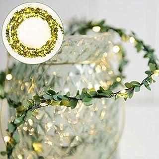 Katuae Leaf String Lights Christmas Strip Light Waterproof Warm White Light Decoration Lamp for Outdoor Garden Patio Home ...