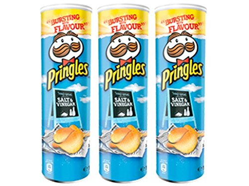 Pringles - Salt & Vinegar - 165 g - [Pack de 3]