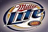 2013 Plaque en métal et bière Miller Lite – Métal brossé, 40,6 x 30,5 cm