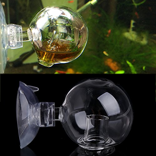Aquarium Fish Tank Carbon Dioxide CO2 Monitor Glass Drop Ball Checker Tester New