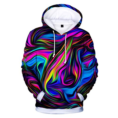 Plus Size Hoodies for Men's Pullover Sweatshirt 3D Printing Unisex Sports Tops S-4XL