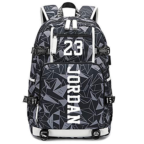 Lorh's store Basketball Spieler Sterne Michael Jordan leuchtende Rucksack Reise Student Rucksack Fans Bookbag für Männer Frauen (G-Muster 2)
