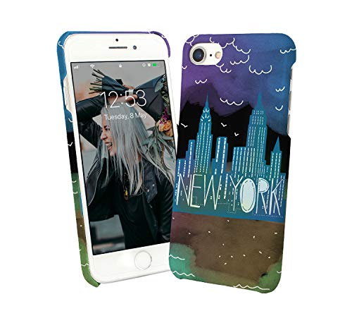 New York Skyline Architecture_007546 Phone Case Cover Custodia Protettiva Sottile Per For iPhone 7 Plus PLUS Regalo Di Natale