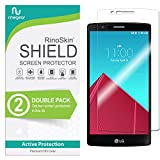 (2-Pack) RinoGear Screen Protector for LG G4 Case Friendly LG G4 Screen Protector Accessory Full Coverage Clear Film
