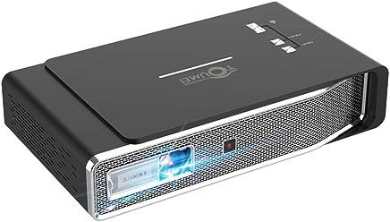 APEMAN Mini projecteur Portable avec Technologie DLP Noir Fonction HDMI Multi-Screen 1080P Bluetooth V4.2 Batterie int/égr/ée et LED Contrastante jusqu/à 30000 Heures