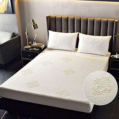 ktynskmx Funda de colchónFunda de colchón Impermeable de Punto Protector de colchón Grueso y Grueso Almohadilla Antipolvo para colchón de Cama, KQC03,140x200x30cm