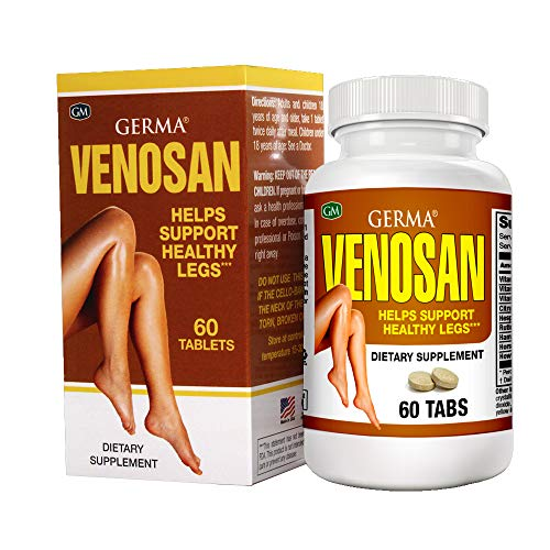 Germa Venosan Dietary Supplement. Helps Treat and Prevent Varicose Veins. Removes Heavy Feeling, Strengthens Vein Walls. 60 Tablets