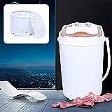 Mini lavadora 2 en 1, deshidratación, para camping, móvil, color rosa/dorado, 54 x 35 x 34 cm, 6 kg (dorado)