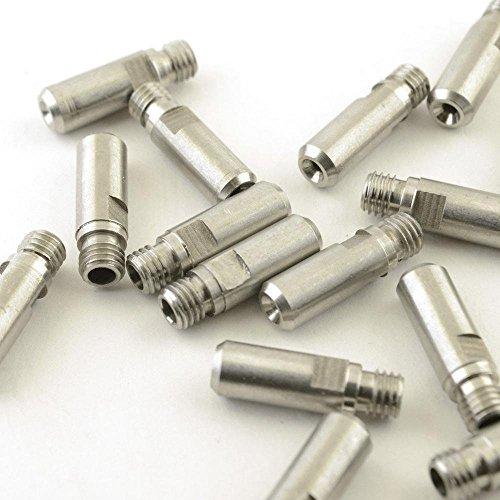 BALITENSEN MK10 Extruder Throat Stainless Steel M7 Thread Heatbreak for Wanhao FlashForge 3D Printer (3 Pack)