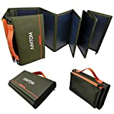 AIMTOM Portable Solar Charger – 60W Foldable Solar Panel with 5V USB and 18V DC for iPhone,...