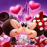 Kits de pintura de diamantes DIY 5D - YUESEN Kit de punto de cruz con diseño de Mickey Mouse Love para decoración de pared para la decoración de la pared del hogar 30 * 30 CM